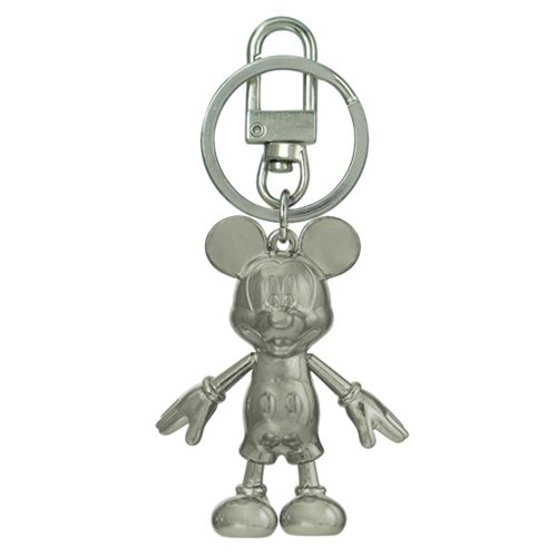 Mickey Mouse June Pearl Pewter Dangle Key Chain