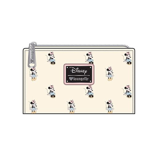 Minnie Mouse Print Cream Bi-Fold Wallet