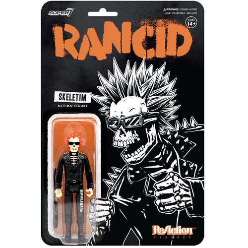 Rancid Punk Skeletim Charged 3 3/4-Inch ReAction Figure