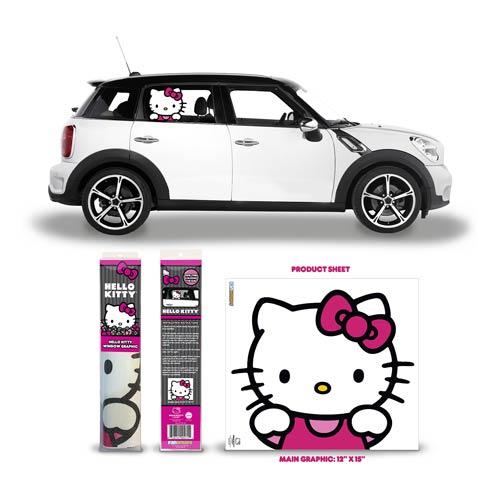 Hello Kitty Passenger Series Car Window Graphic Entertainment Earth
