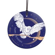 Harry Potter Hedwig Delivery StarFire Prints Hanging Glass Ornament