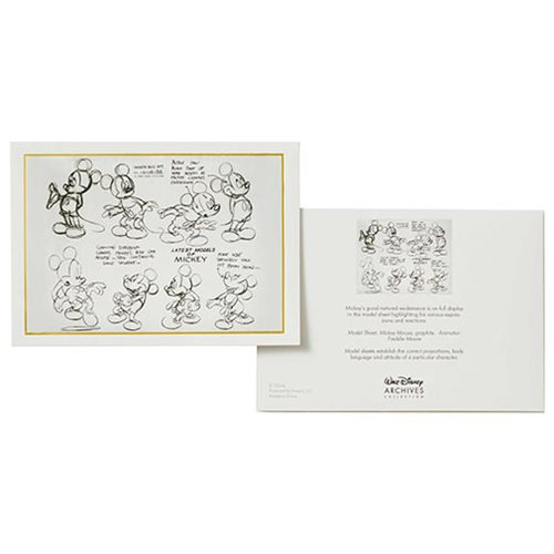 Walt Disney Archives Collection Mickey Mouse Notecard Set