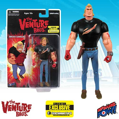 The Venture Bros. Brock Bloody Black Shirt 3 3/4-Inch Action Figure - Convention Exclusive