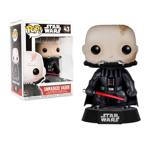 Star Wars Darth Vader Unmasked Pop! Vinyl Bobble Head