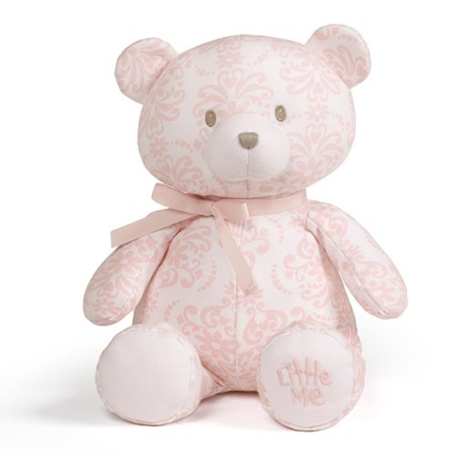 Little Me Damask Scroll Teddy Bear 10-Inch Plush