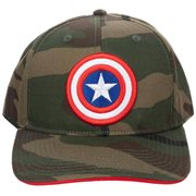 Captain America Camo Pre-Curved Bill Snapback Hat
