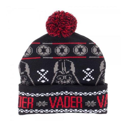 31ea57ed9a8 Star Wars Darth Vader Fairisle Pom Beanie Hat - Entertainment Earth