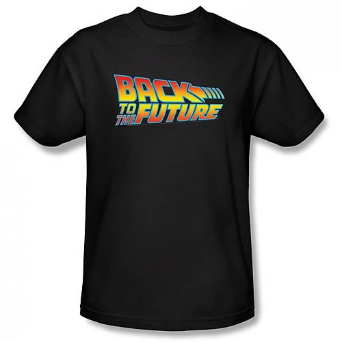 Back to the Future Logo Black T-Shirt