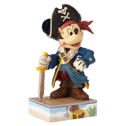Disney Traditions Mickey Mouse Pirate Set Sail For Adventure Statue