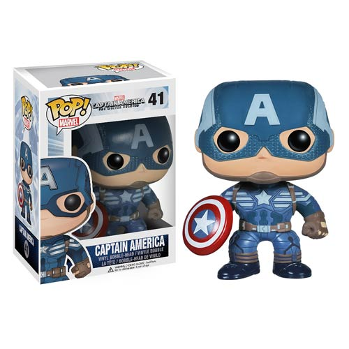 Captain America The Winter Soldier 2 Movie Captain America Pop! Heroes Vinyl Bobble Head Figure