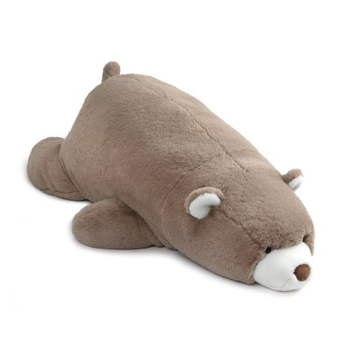 Snuffles Bear Laying Down Taupe Plush