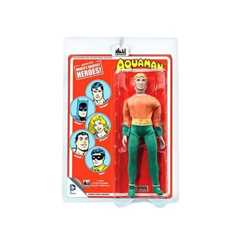 Aquaman DC Comics Retro Orange Mego Style Figure, Not Mint