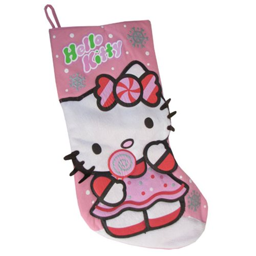 Hello Kitty 19-Inch Printed Felt Holiday Stocking