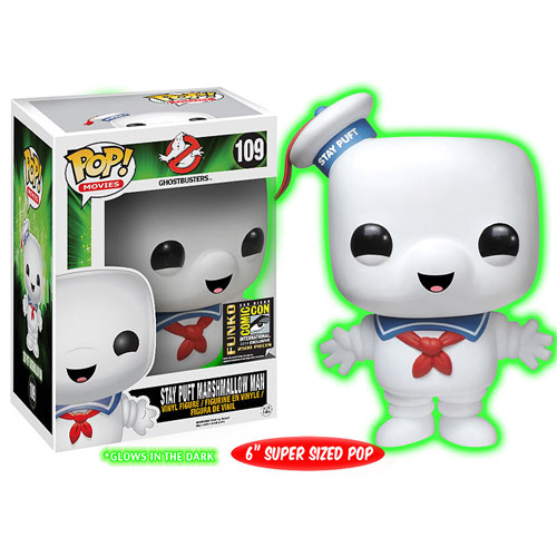 Ghostbusters Stay Puft Glow-in-the-Dark Version Pop! Vinyl Figure - Previews SDCC Exclusive