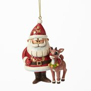 Rudolph the Red-Nosed Reindeer Santa and Rudolph Ornament by Jim Shore