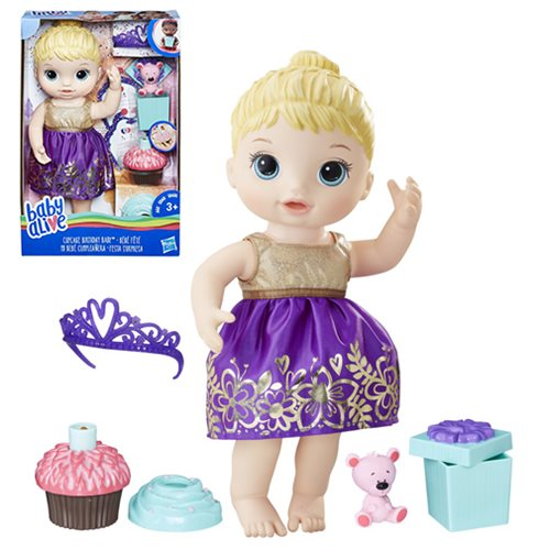 Baby Alive Cupcake Birthday Blonde Baby Doll