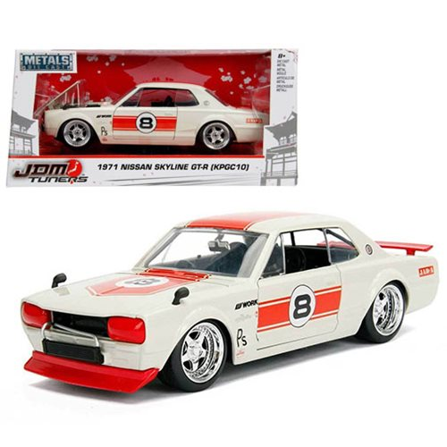 JDM Tuners 1971 Nissan Skyline 2000 GT-R 1:24 Scale Die-Cast Metal Vehicle