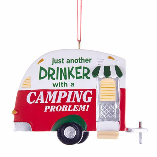 Camping Problem Trailer 2 1/2-Inch Resin Ornament