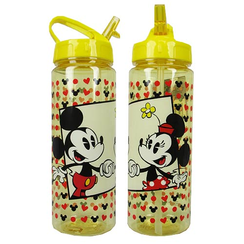 Mickey Mouse with Minnie Yellow 20 oz. Tritan Water Bottle