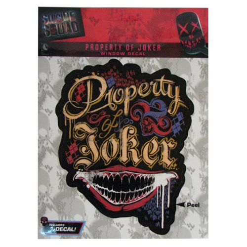 Suicide Squad Property Of Joker Decal