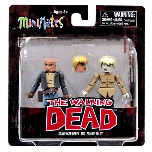 The Walking Dead Minimates Scavenger Derek and Zombie Holly 2-Pack, Not Mint