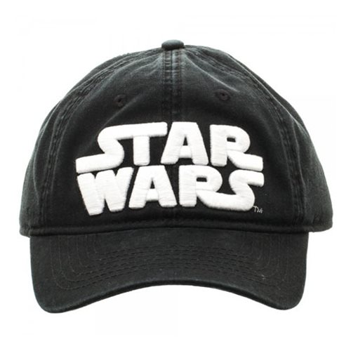 Star Wars Logo Black Adjustable Hat