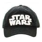 2e6cdb15020 Star Wars Logo Black Adjustable Hat