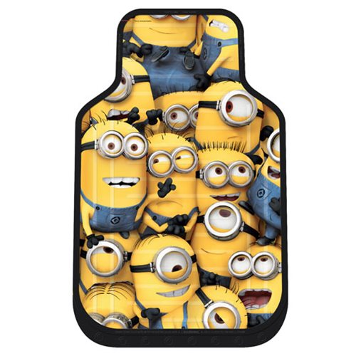 Minions Crowd Plasticlear Floor Mat 2-Pack