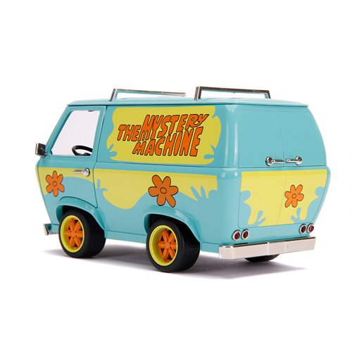 Scooby-Doo Mystery Machine with Scooby and Shaggy Figures 1:24 Die-Cast Metal Vehicle