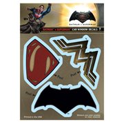 Batman v Superman: Dawn of Justice Logos Decal Set