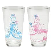 Cinderella 16 oz. Laser Decal Glass 2-Pack Set