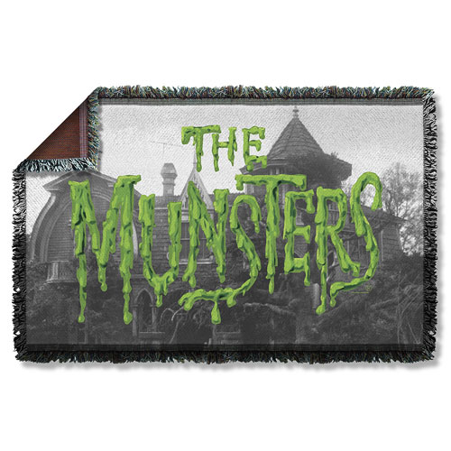 Munsters Logo Woven Tapestry Throw Blanket
