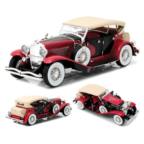 Duesenberg II SJ Red and Black 1:18 Scale Die-Cast Metal Vehicle