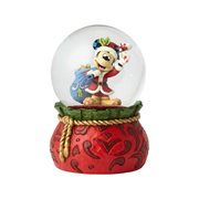 Disney Traditions Santa Mickey Mouse Snow Globe by Jim Shore