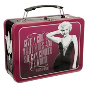 Marilyn Monroe Give A Girl the Right Shoes Large Tin Tote