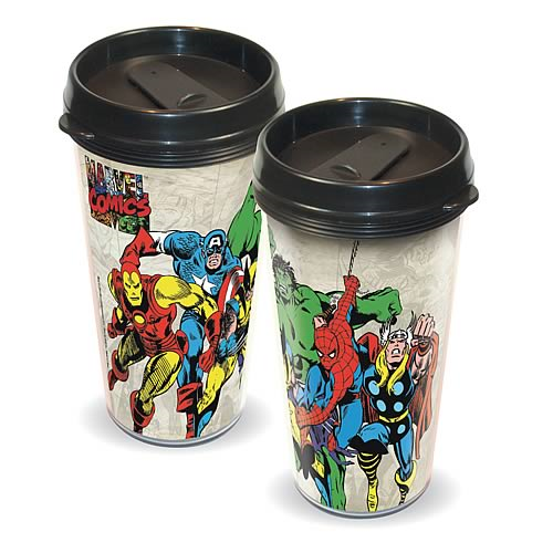Marvel Heroes Plastic Travel Mug