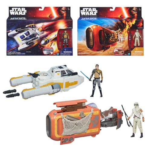 Star Wars The Force Awakens Deluxe Class I Vehicles Wave 1 Set
