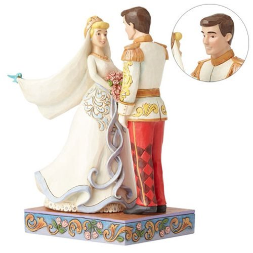 Disney Traditions Cinderella and Prince Charming Wedding Statue