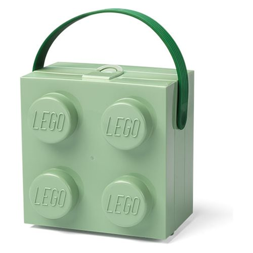 LEGO Sand Green Storage Box with Handle