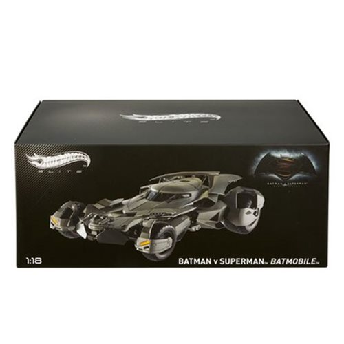 Batman v Superman Batmobile 1:18 Scale Hot Wheels Elite Die-Cast Metal Vehicle