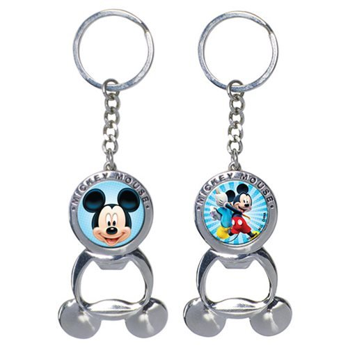 Mickey Mouse Bottle Opener Pewter Key Chain