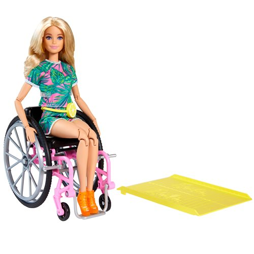 Barbie Fashionista Doll #165 with Wheelchair and Long Blonde Hair