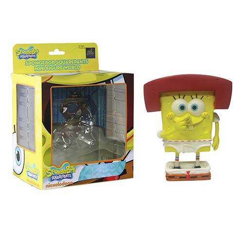 SpongeBob SquarePants Karate SpongeBob in Underwear Mini-Figure World Series 4 Mini-Figure