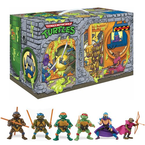 TMNT Sewer Lair Rotocast Action Figure 6-Pack- PX
