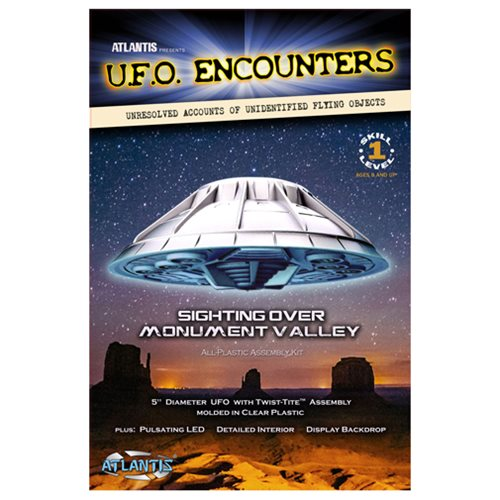 Monument Valley UFO Clear 5-Inch Model Kit with Light