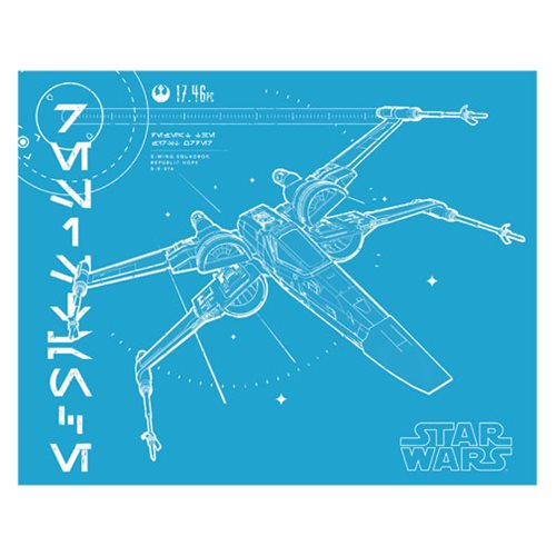 Star Wars: The Last Jedi X-Wing Vintage Canvas Print