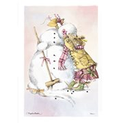 Marjolein Bastin Vera the Mouse and the Snowman MightyPrint Wall Art Print