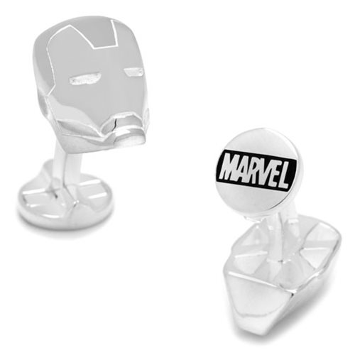 Iron Man 3D Sterling Silver Cufflinks