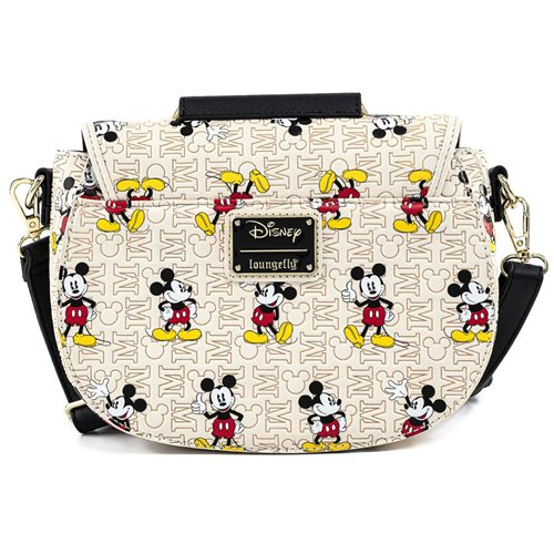Disney Mickey Mouse Poses with Mickey Head Hardware Crossbody Purse