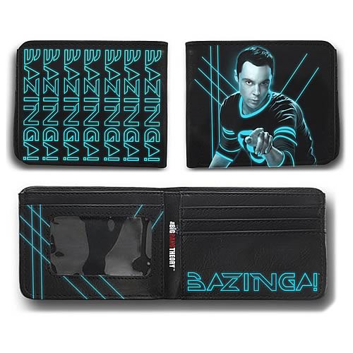 Big Bang Theory Sheldon Laser Bazinga! Wallet